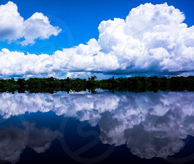 River reflection. (Rio Negro River Brazil) photo