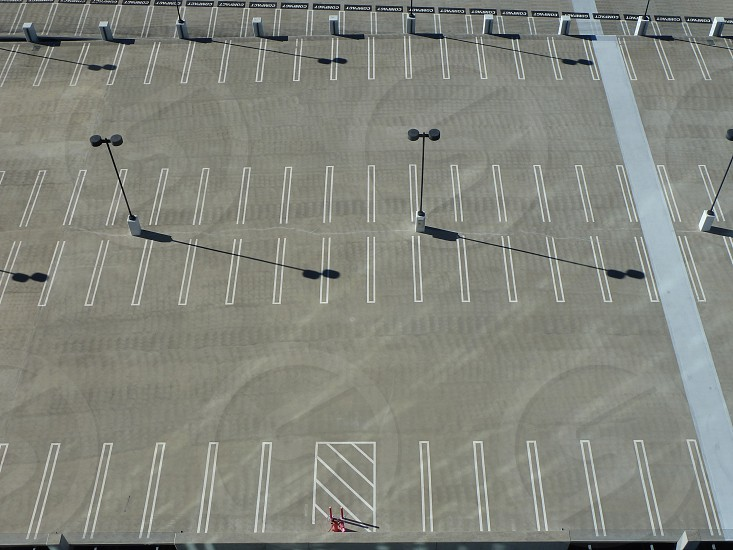 Roof of empty parking lot photo