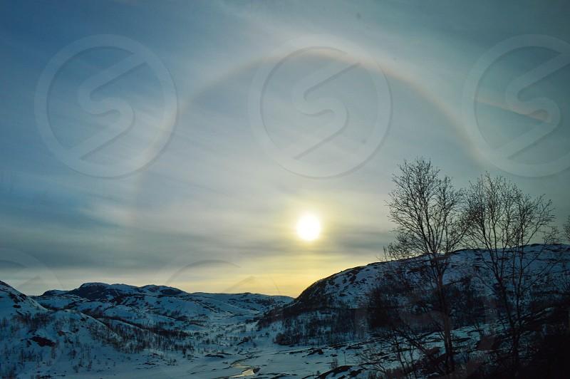 A circular rainbow around the sun Norway photo