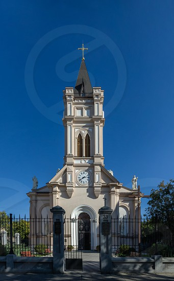 Odessa Ukraine - 10.11.2018. Assumption of the Blessed Virgin Mary Cathedral in Odessa. A religious building belonging to the Catholic Church photo