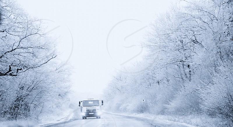 Snow freeway  photo
