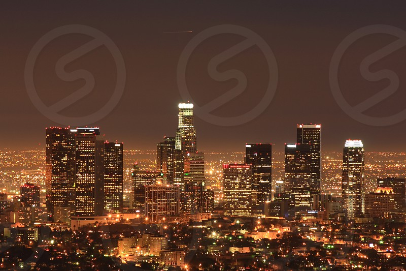 Night shot of Downtown Los Angeles photo