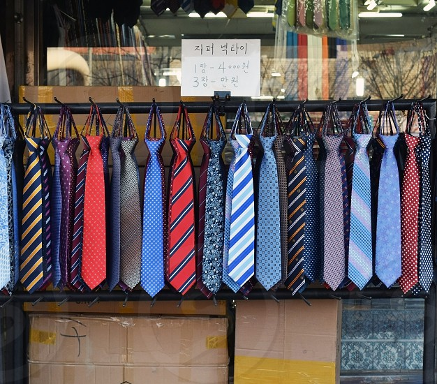 Ties for sale in Seoul photo