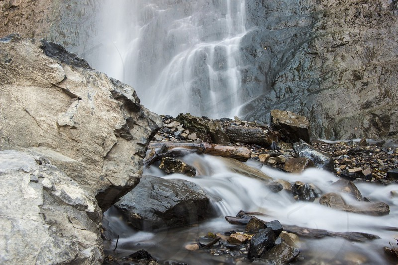 Waterfall near pleasant grove Utah.  photo