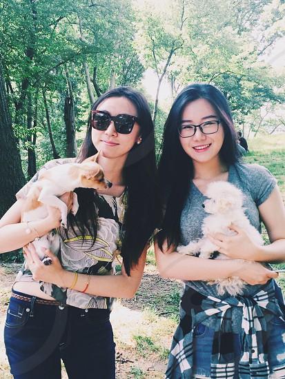 Doggie mommy friendship 🐶 photo