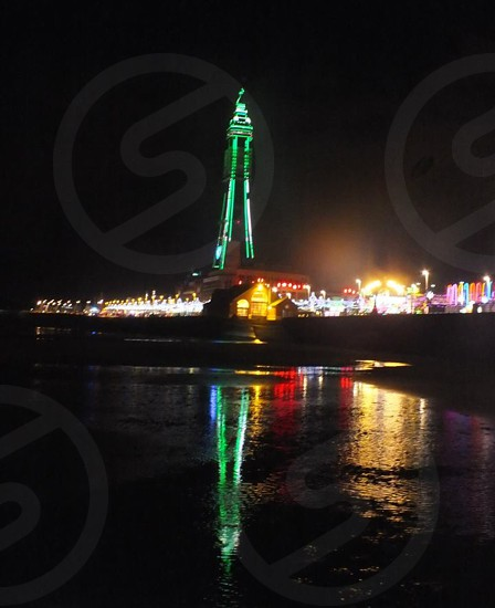 Blackpool by night photo