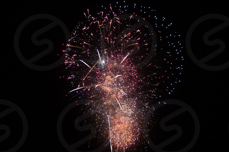 red and white fireworks photo