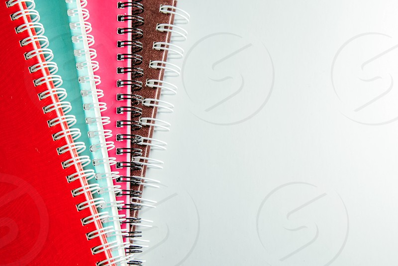 Colorful notebooks  photo