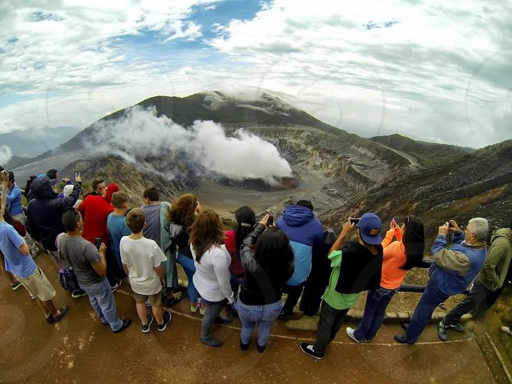 A volcano in Costa Rica photo