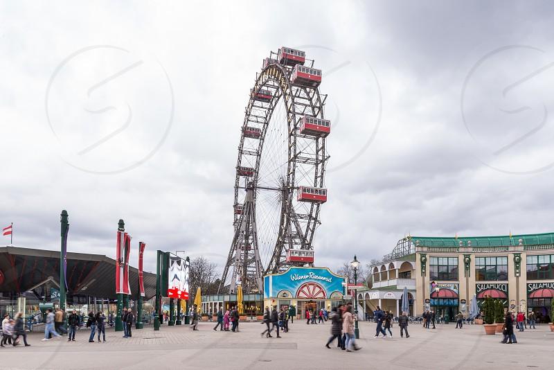 Vienna Leopoldstadt Riesenrad-giant ferris wheel.  photo