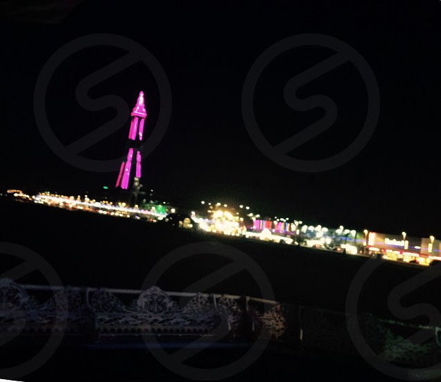Blackpool tower at night  photo