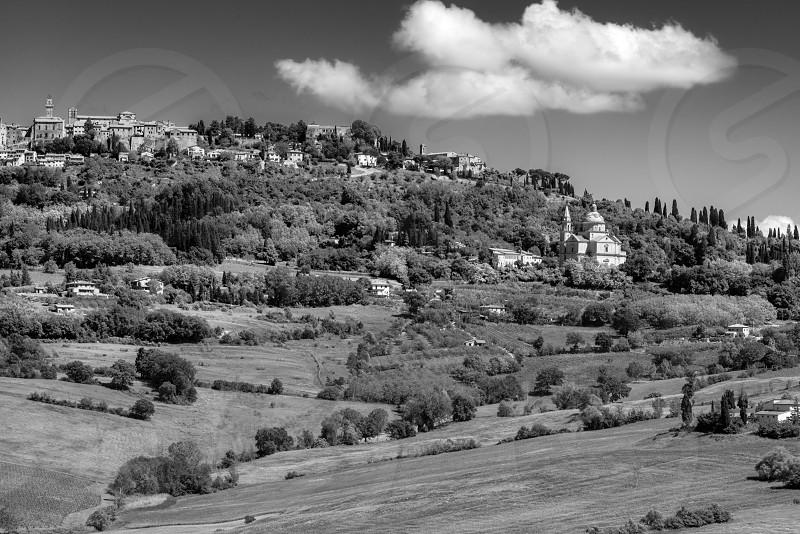View of San Biagio Church  in Montepulciano photo