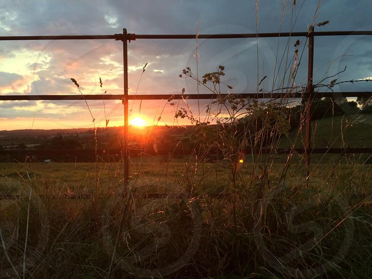 A beautiful sun set in my local village photo