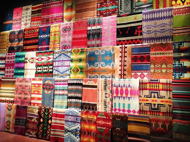 area rugs on display photo