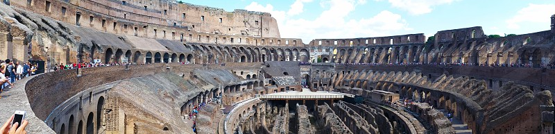 The Colosseum panorama Rome Italy photo