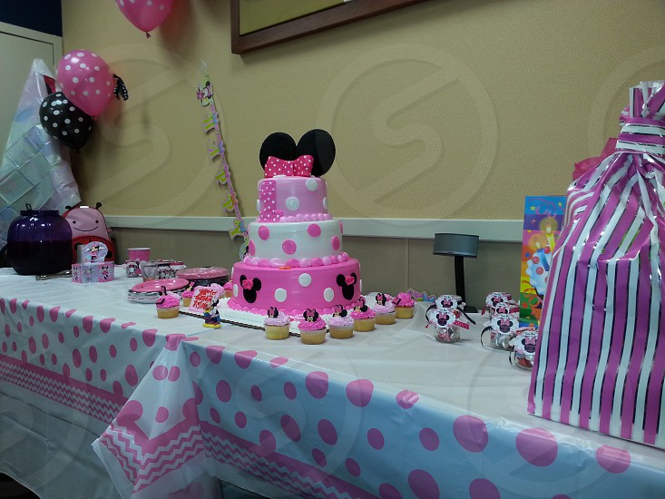 beautiful Mickey Mouse cake. photo