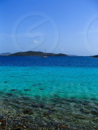 ocean blues St John USVI photo