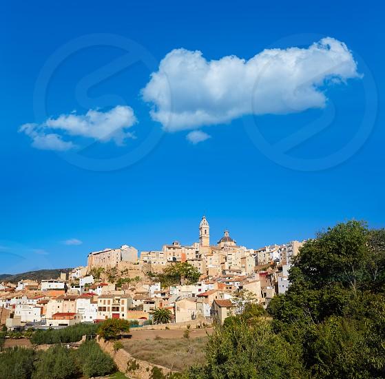 Chelva village skyline in Valencia of Spain Serranos area photo