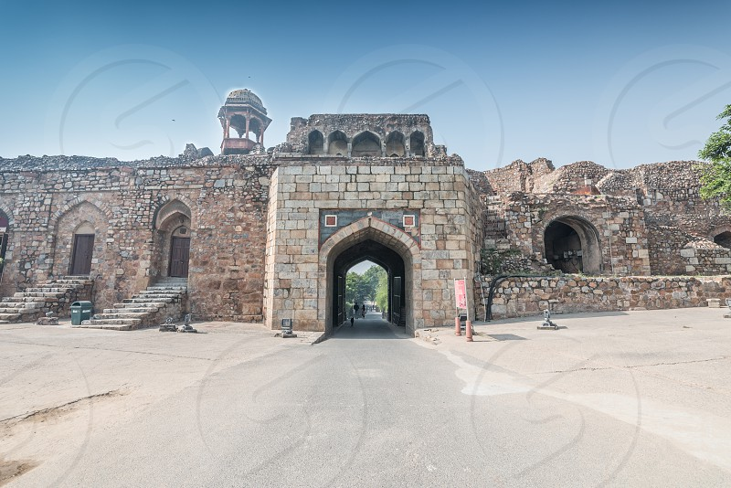 Purana Qila is one of the oldest forts in Delhi. Its current form was built by Sher Shah Suri the founder of the Sur Empire. photo