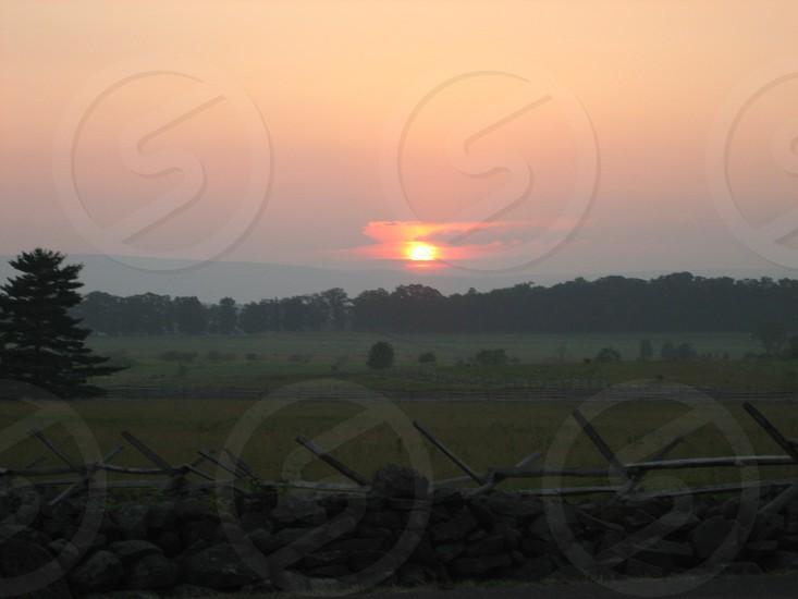 View of Seminary Ridge Gettysburg PA photo
