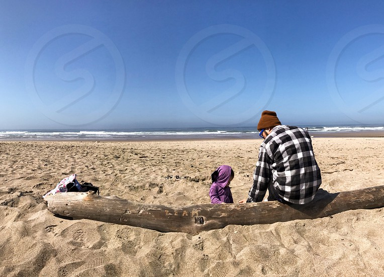 Malibu beach vacation family father daughter fun sun ocean Los Angeles  photo