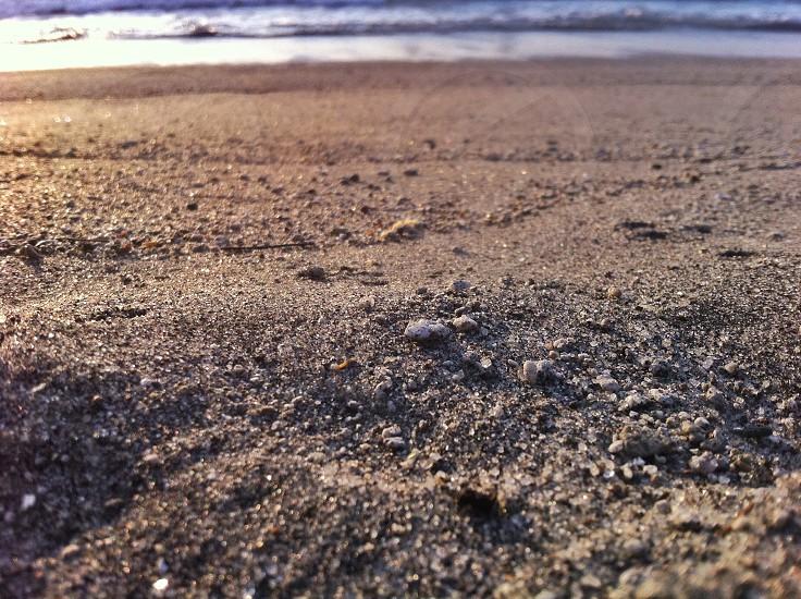 Grains of sand up close photo