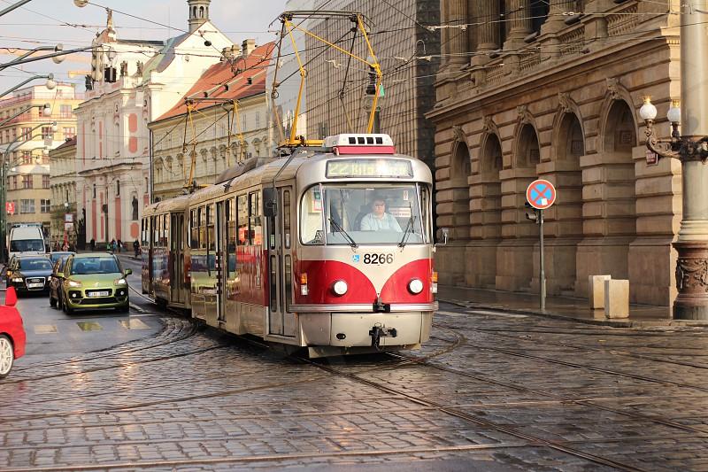 Prague praha tram city urban  photo
