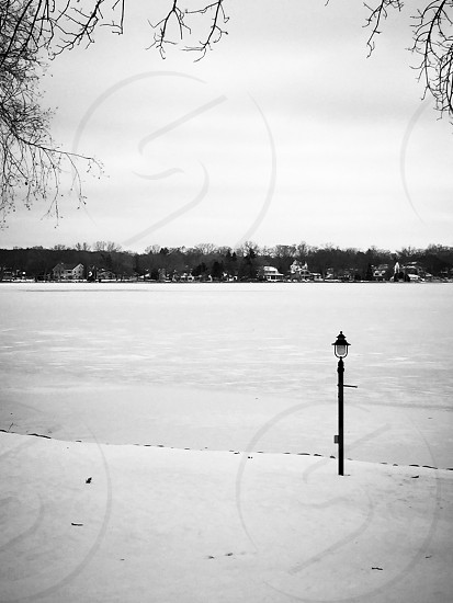 The frozen lake at my Grandma's house photo