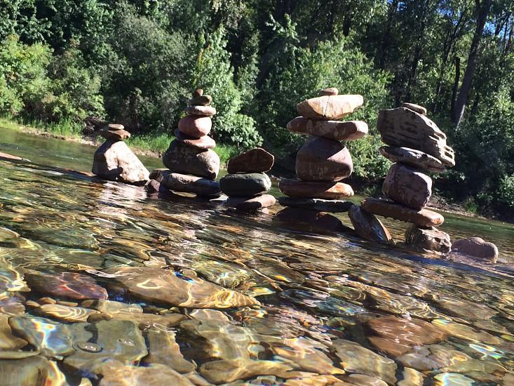 Rock art. River photo