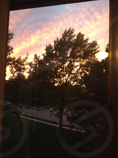 Sunset through my window photo