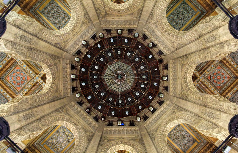 Looking up to Abu ElAbbas mosque dome from inside. Alexandria Egypt photo