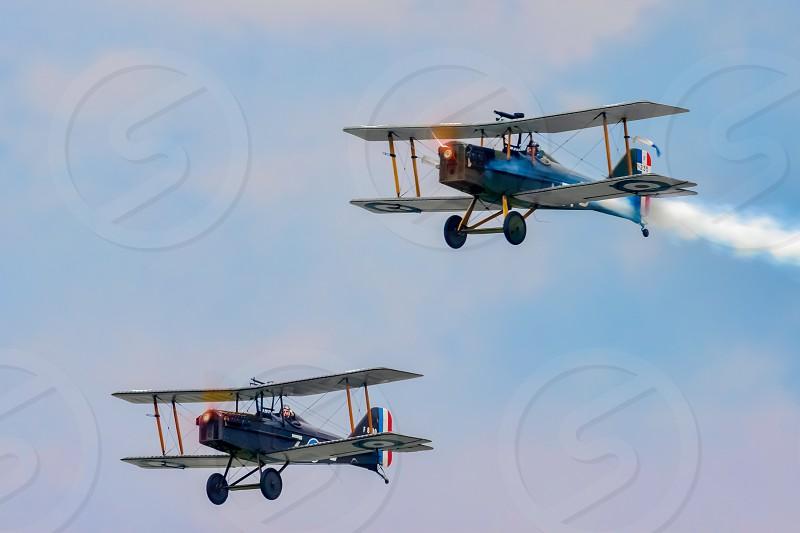 SE5a x 2 (Great War Team) Aerial Display at Biggin Hill Airshow photo