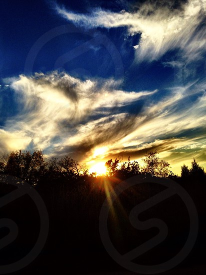 White City Illinois at sundown  photo