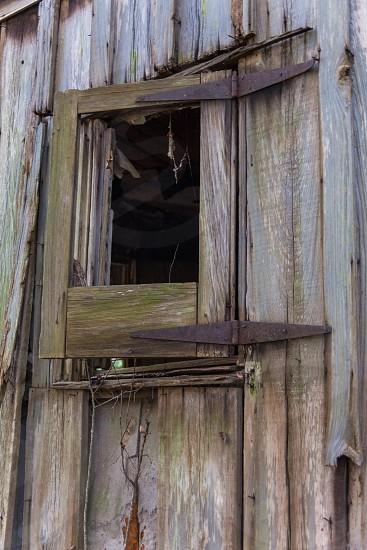 Old Window on Slave Cabin photo