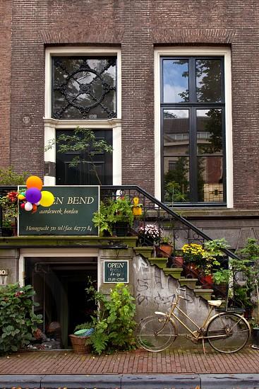 Beautiful facade in Amsterdam. #europe  photo