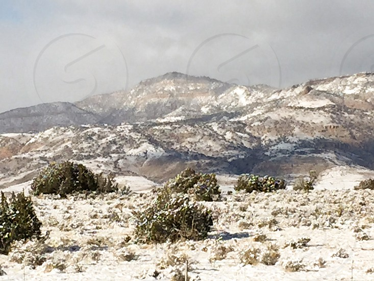 photography of snowy mountains photo