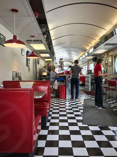 Classic box car diner retro style. Prospect Mountain Diner Lake George NY photo