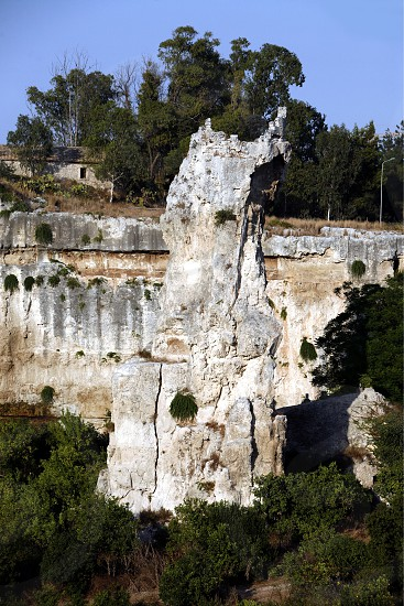 the Grotta dei Cordari near the town of Siracusa in Sicily in south Italy in Europe. photo