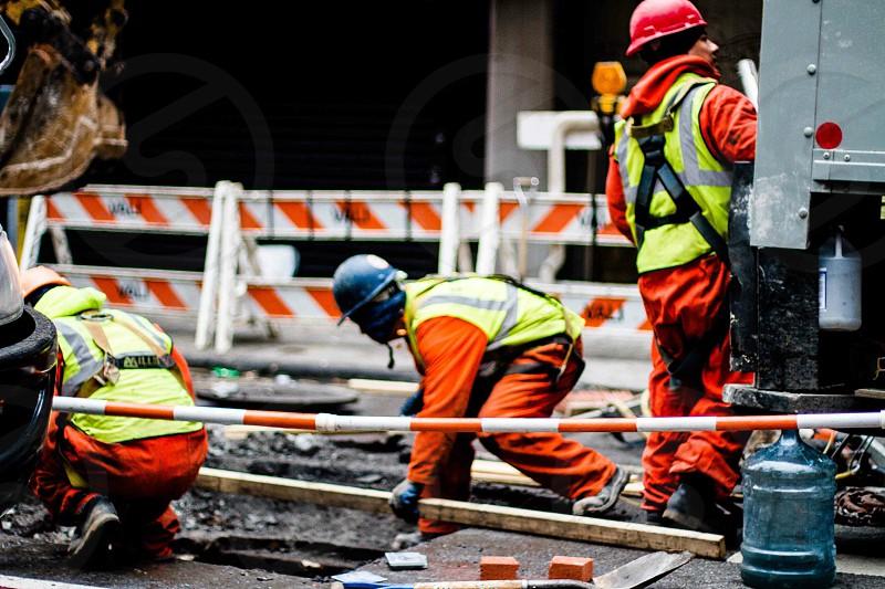 Construction construction workers street  photo
