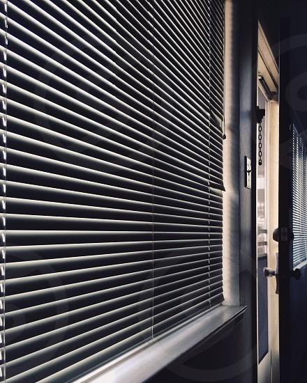 white venetian blinds photo