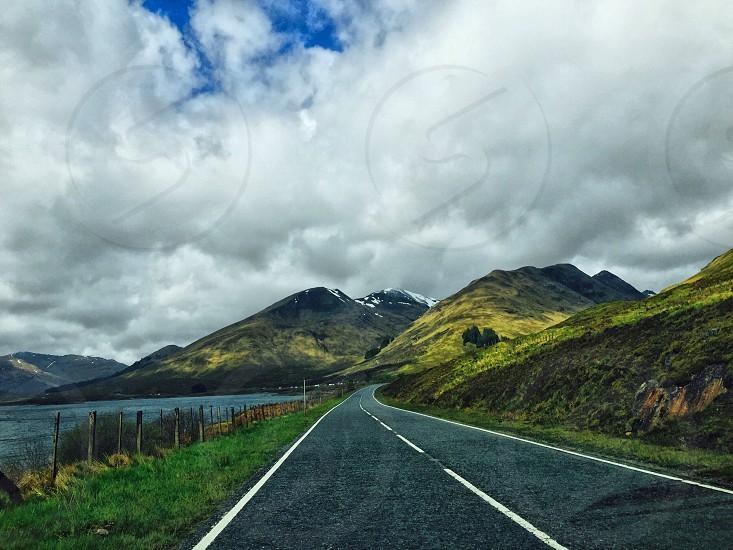 Scottish Highlands road travel  photo