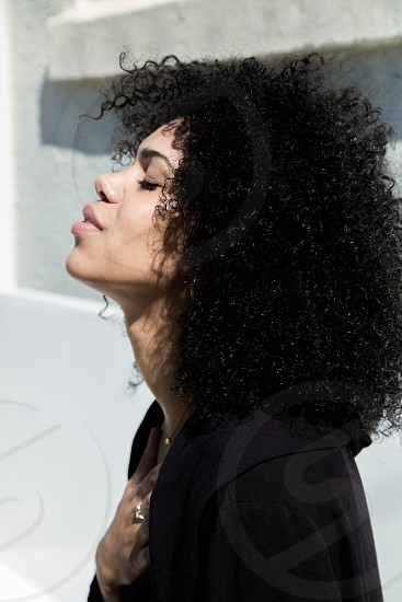 Girl fashion curly hair afro fro street style hipster photo