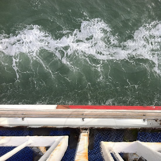 Looking at the sea from a ferry. photo