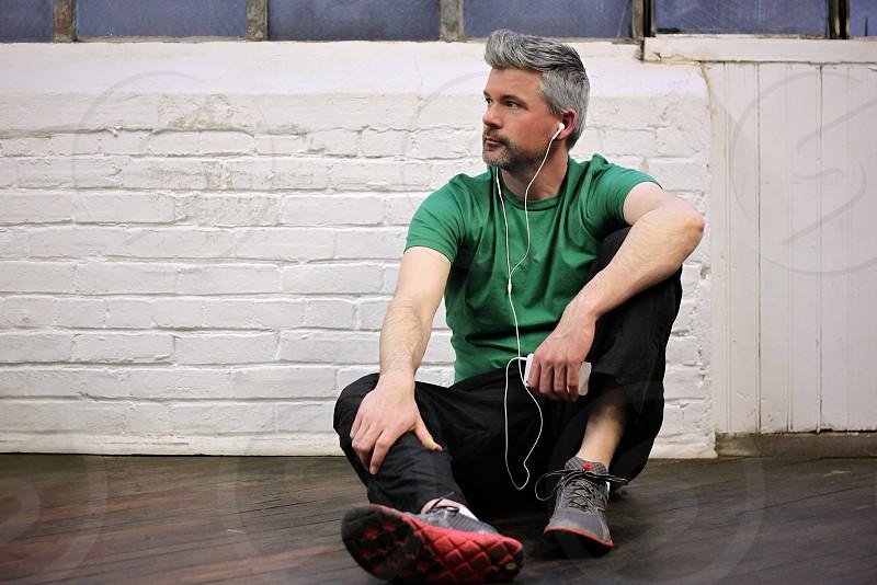 mens green cotton tshirt photo