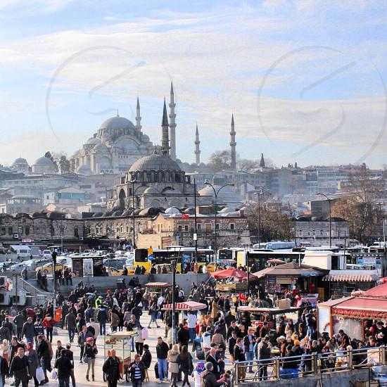 Crowded Istanbul.  photo