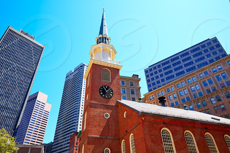 Boston Old South Meeting House historic site in Massachusetts USA photo