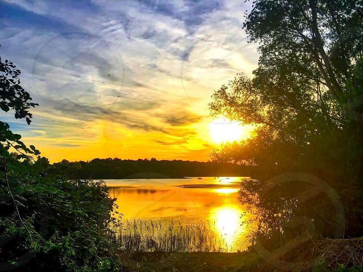 Sunset scenery photo