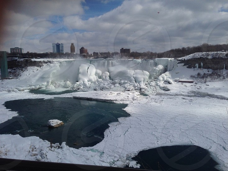 Frozen Niagara Falls photo