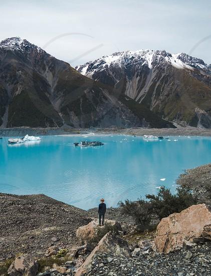Tasman Glacier in New Zealand. photo