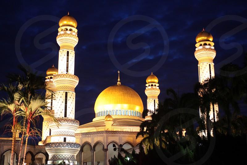 asia borneo brunei darussalam bandar srei begawan city landmark mosque Saifuddien borneo southeastasia brumei darussalam photo